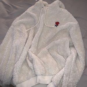 fuzzy forever 21 sweatshirt